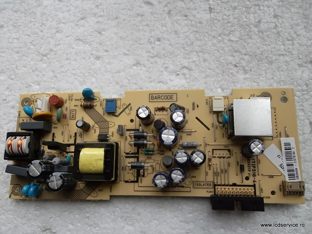 Power Board Smpspsu 17pw25 4 Circuit Diagram 17ips16 4vestel Empty