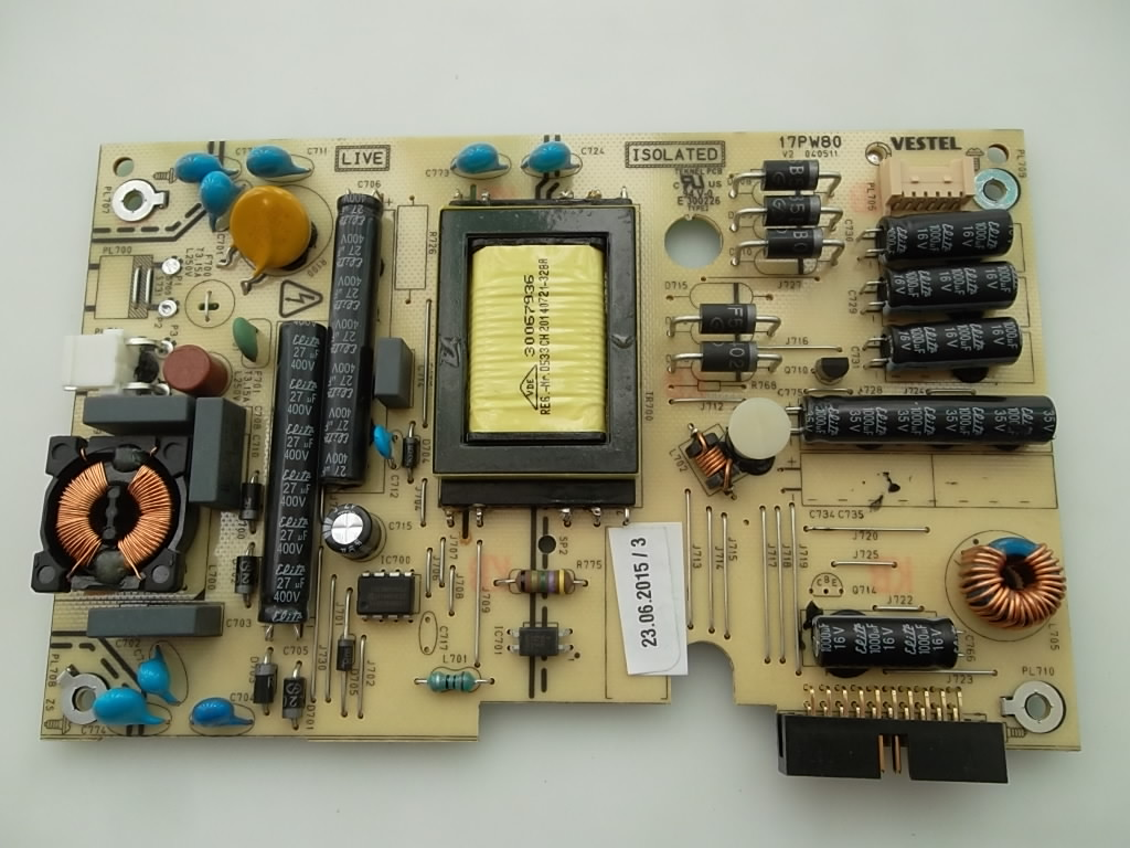 Power Board Smpspsu 17pw15 8 Circuit Diagram 17pw80 V2 Vestel Empty